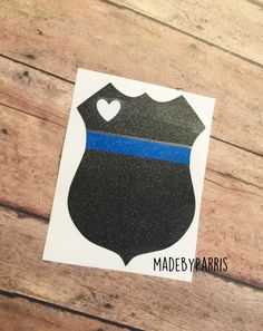 Police Badge Vinyl Decal, Blue Lives Matter, Police Wife Decal, Back the Blue Decal, Car Decal, Yeti Decal, Law Enforcement Decal, Police by MadeByParris on Etsy