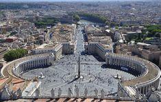 Řím, St Peter Náměstí, Vatikán, Piazza, Bazilika