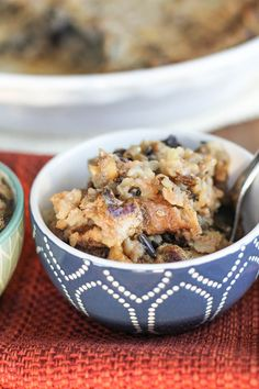 Brown and Wild Rice Pudding with Vanilla Bean Cherry and Red Walnuts