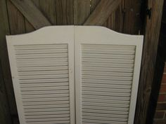 Nice Vintage Set of 1970 Shutters that swing by PatsyTexasRose