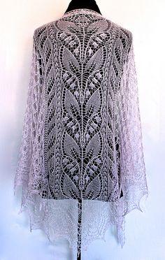 Ravelry: Lily-of-the-Valley-Rosea pattern by Alla Borisova Lace Knitting Patterns, Shawl Patterns, Lace Patterns, Loom Knitting, Knitting Stitches, Knitting Designs, Knitting Tutorials, Free Knitting, Stitch Patterns