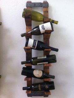 Wall Mount Wine Rack par FALLENOAKDESIGNS sur Etsy