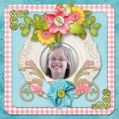 Kathryn Estry Creative Team Layout with Girly Pink Digital Scrapbooking Collection @ PickleberryPop https://www.pickleberrypop.com/shop/product.php?productid=48315&page=1