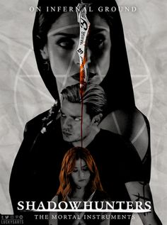Shadowhunters poster ➰ So, I'll try make a poster for every episode of this season. Clary E Jace, Clary Fray, Shadowhunters Tv Show, Shadowhunters The Mortal Instruments, Anna Hopkins, All About Anna, Cassandra Jean, Dominic Sherwood, Isabelle Lightwood