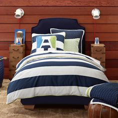Bold Stripes - Navy and white