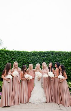 Love these dusty pink bridesmaids dresses