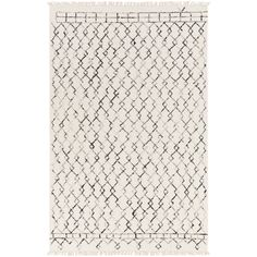 Surya Nettie Cream Indoor Handcrafted Global Area Rug (Common: 8 x Actual: W x L) at Lowe's. Beauty and elegance are what describe the Nettie collection by Surya. Hand woven with 70 percent wool and 30 percent cotton this gorgeous rug has fringe Accent Rugs, Accent Decor, Transitional Area Rugs, Thing 1, To Color, Rug Shapes, Wool Area Rugs, Woven Rug, Throw Rugs