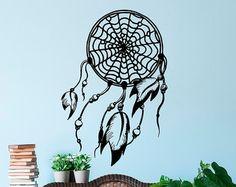 Dream Catcher Wall Decal Dreamcatcher Hippie by FabWallDecals
