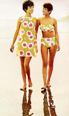 1968 Beach Wear- Vintage Fashion | Mojo Inspiration - I remember equally ugly patterns.