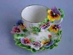 Essence of a woman - Geschirr & Co - Tea Glasses Tea Cup Set, My Cup Of Tea, Tea Cup Saucer, Tee Set, Keramik Design, Teapots And Cups, Teacups, China Tea Cups, Vintage Tea