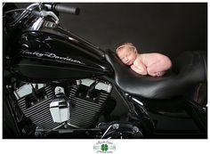 Baby on a Harley! :-) Irish Eyes Photography: Baby Isabella:: Columbus, Ohio Newborn Photography