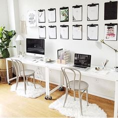 Shop Go-Cart White Rolling Console Table. Nifty metal office worker or dining companion rolls into place on 4 commercial wheels and 1 brite white powdercoat. go-cart white rolling console table is a exclusive. Shared Home Offices, Shared Office, Home Office Design, Home Office Decor, Home Decor, Home Office Table, Office Organization At Work, Office Ideas, Small Space Office