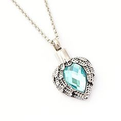 Zahara Memorial Urn Necklace 20 Inches with Velvet Pouch  Fill Kit  Aquamarine Angel Heart Pendant and Chain Nickel Free -- To view further for this item, visit the image link. This is an Amazon Affiliate links.
