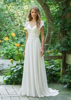 Wedding Dress 66017 by Lillian West - Search our photo gallery for pictures of wedding dresses by Lillian West. Find the perfect dress with recent Lillian West photos. Lillian West, Boho Dress, Lace Dress, Lace Bodice, Bridal Dresses, Wedding Gowns, Informal Wedding Dresses, Modest Wedding, Cap Sleeved Wedding Dress