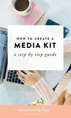 How to Create a Killer Media Kit – Blair Staky Make Money Blogging, How To Make Money, Saving Money, Media Kit Template, Wordpress, Tips & Tricks, Seo Tips, Apps, Blogger Tips