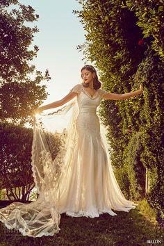 bhldn spring 2015 wedding dresses cap sleeves v neckline lace modified a line ivory bridal gown rosamund signe vilstrup photo los angeles california