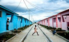 Rows of homes in a developement outside Port-au-Prince, Haiti, Dec. 4 2012. ~By Damon Winter for The New York Times.
