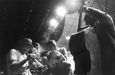 LEE FRIEDLANDER :: Smoky musicians with stage lights. A great angle looking up, making it look more like a jam session than a concert. All about looking for different angles.