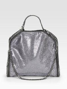 Stella McCartney Falabella Metallic Fold-Over Tote. The perfect metallic purse!