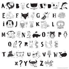 Lightbox Letter Set - Animal ABC Black
