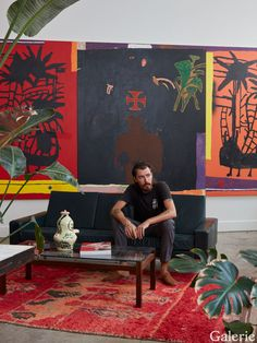 Danny Fox Is One of the Most Exciting Young Painters Today - Galerie Decoration Inspiration, Painting Inspiration, Art Inspo, Decor Ideas, Home And Deco, Art Plastique, Contemporary Paintings, Art Studios, Artist At Work