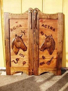 Custom Built Longhorn Branded Western Swinging Saloon / Cafe Wood Doors   eBay
