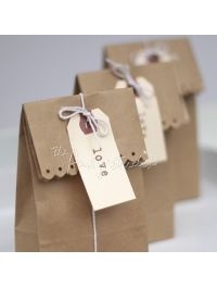 These cute little bags are cost effective but are still a gorgeous packaging option. Add twine or mini peg and a tag.