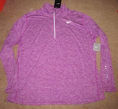 low priced 968f5 f5ffb Nike Dry Element Womens Running Top Shirt Plus Size 1X Cosmic Purple 747058  556  Nike