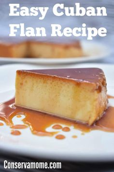 This delicious Cuban Flan Recipe or Flan Cubano is a huge hit wherever and whenever I take it. Find out how easy it is to make this Cuban dessert! Flan recipe or Flan ! Cuban Desserts, Easy Desserts, Mexican Food Recipes, Gourmet Recipes, Baking Recipes, Delicious Desserts, Steak Recipes, Spanish Desserts, Winter Desserts