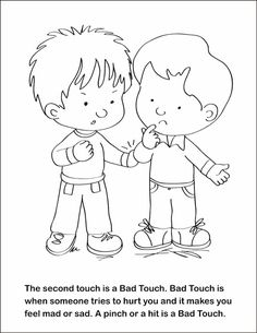 FSGC, Good Touch Bad Touch Coloring and Activity Book on Behance ...