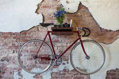 Put the bike on the wall..=)