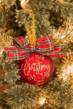 Diy Christmas Newlywed Ornament