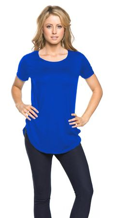 Emily Modal Tee $32.95 CAN Coming in Curvy as well Www.silvericing.com/threeangels