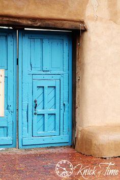 Antique Wooden Door in Santa Fe, NM ~ via Knick of Time.net