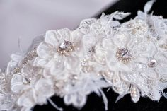 Bespoke #headpiece made from french and English lace, embellished with Swarovski pearls and crystals - made by hand  www.allaboutromance.com.au