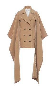 Wool Blend Double Breasted Blanket Coat by VERONIQUE BRANQUINHO for Preorder on Moda Operandi