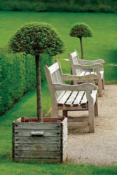 Garden Benches & Planters