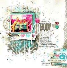 Shimmerz DT Project - featuring the Mono Tonez collection, Shimmerz, Creameez, Texturez, Dazzlerz.  Echo Park Capture Life collections.