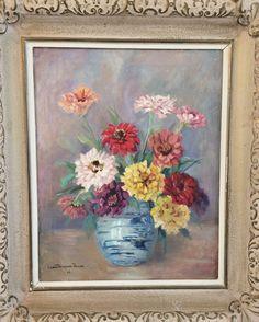 Uusin taidehankintani on Agnes Wittfoothin kukkataulu vuodelta -46. Ihastuin hänen värimaailmaansa ja taiteilija on minun 10.serkku, yhteinen esi-isä on Östen Sursill. Painting, Painting Art, Paintings, Painted Canvas, Drawings
