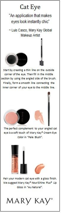 The best way to create a cat eye? Start with Mary Kay® Gel Eyeliner and an angled brush. For a timeless beauty look, add a soft shadow shade to complement your bold lines!
