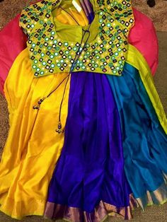 Top Beautiful Mirror work Blouse Designs Latest designs :- Mirror work blouse designs have become fashion now. When a mirror work blouse is combined with a plain saree it will give stunning a… More