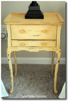 Yellow Painted Side Table
