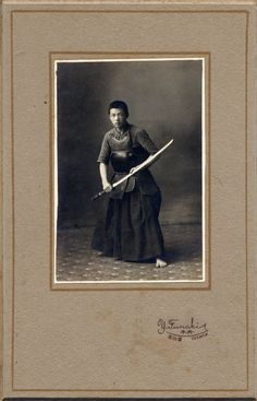 ba130 1910s Japan Old Photo Japanese Samurai Boy with Sword / Kendo Budo Armor