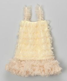 Look what I found on #zulily! Cream & Champagne Tutu Dress - Infant, Toddler & Girls #zulilyfinds.  There in several dresses in this store that look good for Rivers
