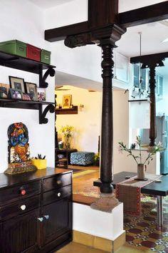 Karthik's Trip Down Memory Lane – neeharika raghuram – Karthik's Trip Down M… – Indian Living Rooms House Design, Modern Farmhouse Exterior, Indian Living Rooms, House Tours, Home, Chettinad House, Indian Home Decor, Home Deco, Traditional House