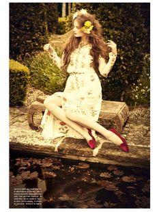 Eniko Mihalik Is Ethereal in Vogue Italias July Issue by Ellen von Unwerth