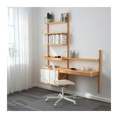 SVALNÄS Wall-mounted storage combination, bamboo, white bamboo/white 59x13 3/4x69 1/4