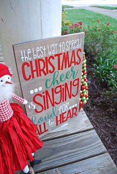 The best way to spread Christmas cheer sign I Buddy the Elf quote I Christmas I Christmas decor I Elf I Elf quote I Christmas sign I Buddy Elf Christmas Decorations, Christmas Gnome, Little Christmas, Outdoor Christmas, First Christmas, Christmas Holidays, Merry Christmas, Christmas Vinyl, Christmas 2019