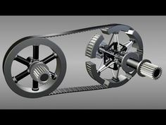 Continuously mechanical Variable Transmission CVT - YouTube
