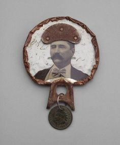 Robert W. Ebendorf, USA: brooch, tin, paper, copper, old coin, steel. 1968